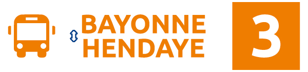 Ligne 3 – Bayonne • Hendaye