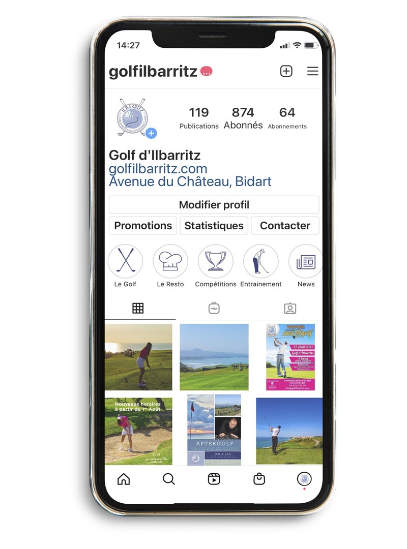 Community manager - Golf d'Ilbarritz